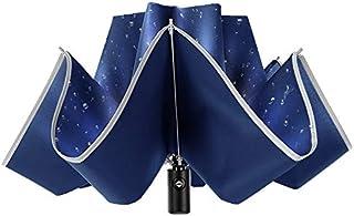 ALINK Inverted Reverse Folding Umbrella,10 Ribs Auto Open/Close Windproof Umbrella, Waterproof Travel Umbrella,Portable Um...