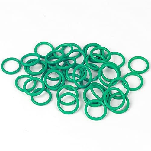 TINGCHAO Anillo De Silicona O, Anillos De Sello FKM Gaske, Diámetro Exterior 11 mm, Diámetro De Alambre De 3,5 mm, Paquete De 20 Green,37 * 3.5mm