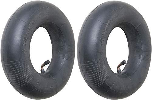 4.10/3.50-4 Premium Replacement Inner Tube (2 Pack) - Heavy Duty Angle Valve 4.10 x 3.5 - 4 Tube for...