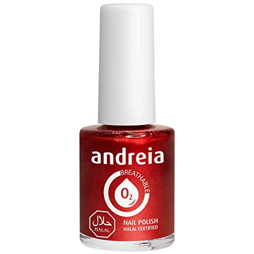 Andreia Halal Atmungsaktiver Nagellack - Wasserdurchlässig - B12 rot - Schattierungen von Pink | 10.5 ml