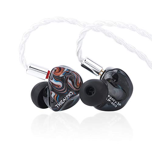 THIEAUDIO Legacy 4 1DD+3BA Hybrid Driver In-Ear Monitor with 2 Tuning Switch, Detachable 7N OCC 0.78mm 2Pin Cable, Custom Faceplate