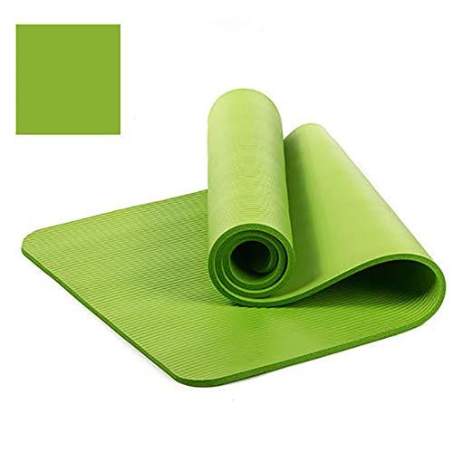 VIWIV Yoga-Matte, rutschfeste Dicke NBR-Yoga-Matte 183 * 61 * 1CM, Geeignet Für Yoga-Pilates-Tanz-Outdoor-Gymnastikmatte,Grün