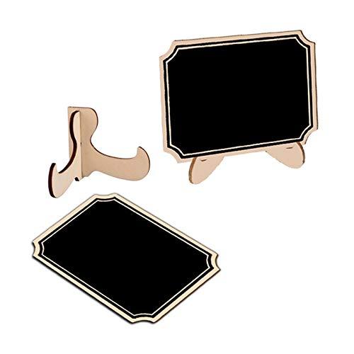 5 unids / lote lindo esquinero interior de madera mini pizarra pizarra planificador pegatinas de pared tablero negro material escolar de oficina