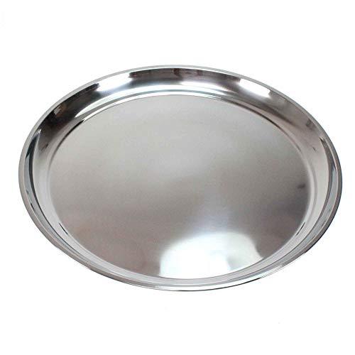 Floral-Direkt Edelstahl Teller 20-60cm Untersetzer Tablett Geschirr Platte Napf Servierplatte, Größe:50 cm Ø