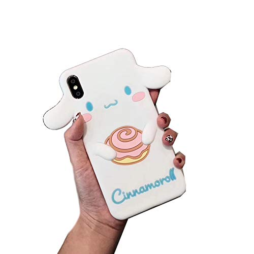 EYDLK 3D Japanese Cute Cartoon Silicone Phone Case for iPhone Plus XR MAX Girl Cover-B-for iPhone XR