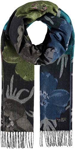 FRAAS Autumn Bloom Floral Oversized Cashmink Woven Scarf for Women - Made in Germany - Fashion Accessory for transition into Fall Winter - Navy