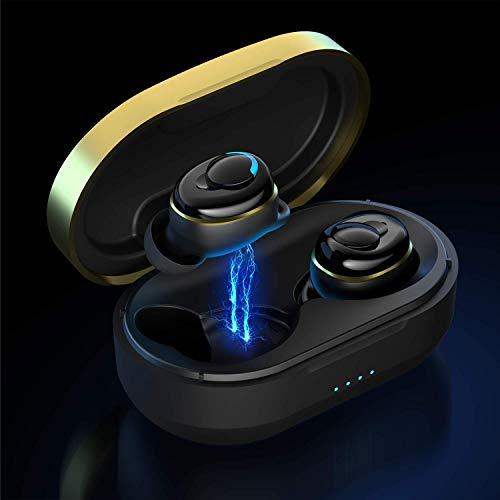 MUSCCCM Bluetooth Kopfhörer, HD Klangqualität Kabellose Kopfhörer Bluetooth In-Ear 5.0 Geräuschisolierung IPX5 Wasserdicht, Wireless Kopfhörer mit Ladebox, Sport Kopfhörer für Anruf/Sport/Reise