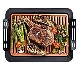 Barbecue-Grill, ConpConp U-förmiger, gleichmäßig erwärmender Bratgrill, 1250 W temperaturregulierbare Bratmaschine mit abnehmbarem Grill für das Picknick in der Küche zu Hause.