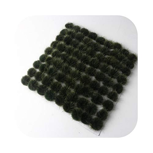 happy-Boutique Pompom Hair Accessories, Hook Earrings, Brooch Sandals Household Fur DIY Material Accessories 5 / 10 Pieces Army Green 4 cm 10 Pieces