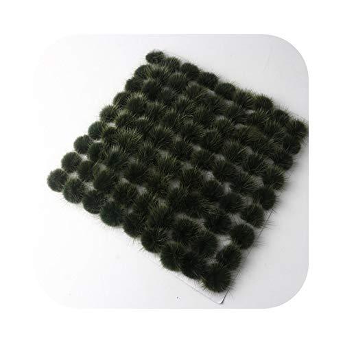 happy-Boutique Tassel Earring, 3/4 cm Tassel Ball Hair Hook Ear Brooch Sandals Household Fur DIY Material 5/10 Pieces – Army Green 4 cm 10 Pieces