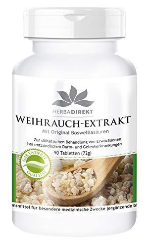 Boswellia serrata 400 mg - 90 comprimés - végétarien - Au moins 65% d'acide boswéllique