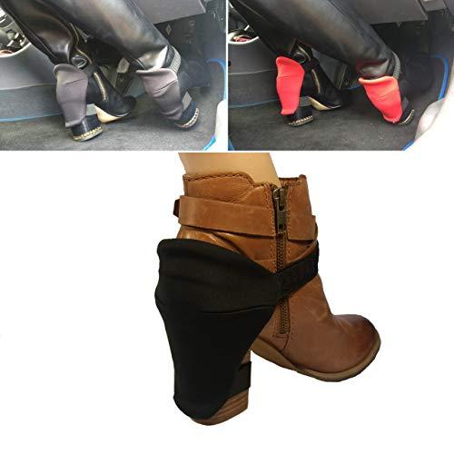 Winterstiefel-Fersenschutz für Frauen zum Einfahren, für abriebfreie Stiefel, Blockabsätze und Schuhe, ein Auto fahren/schwarze Fersenschutz für Stiefel