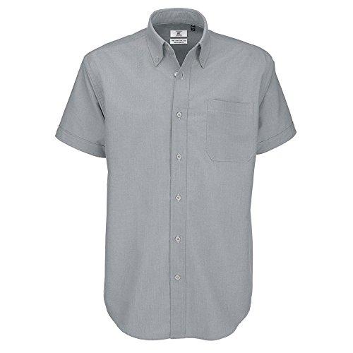 Chemise à manches courtes B&C pour homme (XL) (Lune argentée)