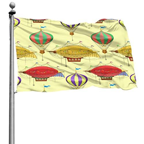 Mesllings - Banderas para decoración de fiestas, diseño de hadas, estilo steampunk, para exteriores, 120 x 180 cm, poliéster con ojales para decoración interior y exterior.
