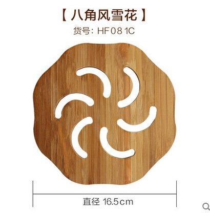 Neuf en Bambou Set de Table Isolation Thermique Pad en Bambou Dessous de Verre Plaque de Tapis de Table de Salle à Manger Pad Circle Dessous-de-Verre Support de Pot Bol Pad 2