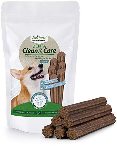 AniForte Zahnstein-EX Mini Sticks 160 g - Zahnpflegesnack für Hunde, Hundeleckerli zur Zahnreinigung, Zahnsteinentferner gegen Maulgeruch, entfernt Plaque & beugt vor, getreidefrei, Naturprodukt