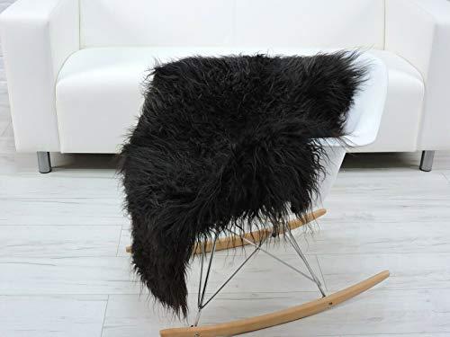 World of Sheepskins Alfombra de piel de oveja auténtica auténtica islandesa rizada mongol sofá silla de piel G310