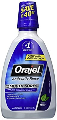Orajel Antiseptic Mouth Sore Rinse, 16 Fluid Oz by Orajel
