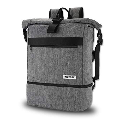 Speedsporting Roll Top Rucksack Herren Damen Daypack Wasserabweisend Laptop Rucksack Sporttasche für männer Frauen mit Schuhfach Umhängetasche für das Fitnessstudio, Reiserucksack,Gym Bag 31L