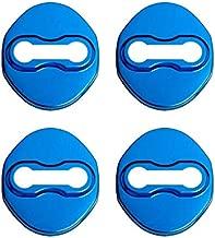 FIOLTY Emblemas del Coche El labrar Caja del Coche de la Etiqueta engomada para Mitsubishi Pajero Sport Outlander ASX Cubierta 2012 2013 2014 Protección de la Puerta: Azul
