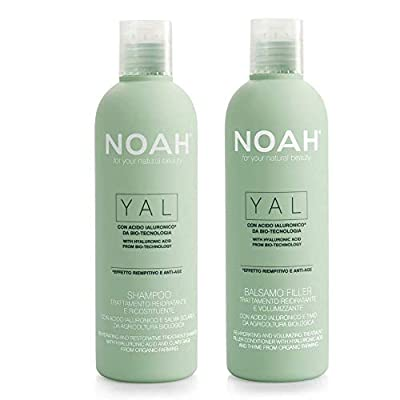 NOAH Yal Thyme + Hyaluronic Acid Shampoo and Conditioner Set, Cruelty Free, Vegan, Anti-aging, Detangling, Fortifying and Moisturizing - Hair Care for Natural Beauty - 8.5 fl.oz (250 ml) Each
