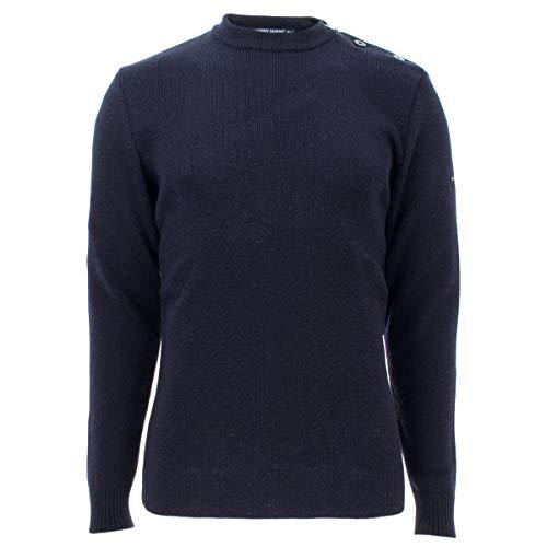 Saint James Herren Pullover Wollpullover Rochefort Pulli aus Reiner Schurwolle in Blau Größe XL