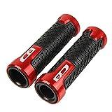 RONGLINGXING Pieces de Sport Motorise Moto Accessoires Guidon Poignées for HONDA CB599 CB750 CB600F CBR600 F3 CB600FY CBF600 CBF1000 CB650F CB1000R poignées (Color : Red)