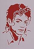 Art LIFE R&B - Plantilla para pintar y dibujar (tamaño A4, 21 x 29 cm, reutilizable), diseño de Michael Jackson cantantes, pop
