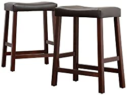 Cushioned Saddle Stool - Pair