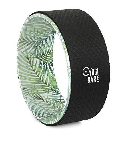 Yogi Bare - Ruota Yoga per Stretching - Sughero Antiscivolo - migliora Mobilità e allevia Le tensioni - Supporto e flessibilità - 33 x 13 cm - Palm