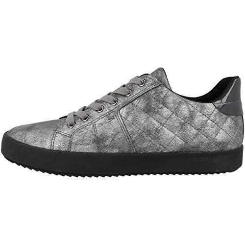 Geox Mujer Zapatos con Cordones BLOMIEE,señora Zapatos Deportivos,Calzado,con Cordones,para Exterior,Deportivo,Removable Insole,Gun,36 EU/3...
