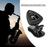 Kalaok El afinador de instrumentos de viento ET 3000W admite modos de afinación de micrófono y de clip para flauta de trompeta de clarinete de saxofón