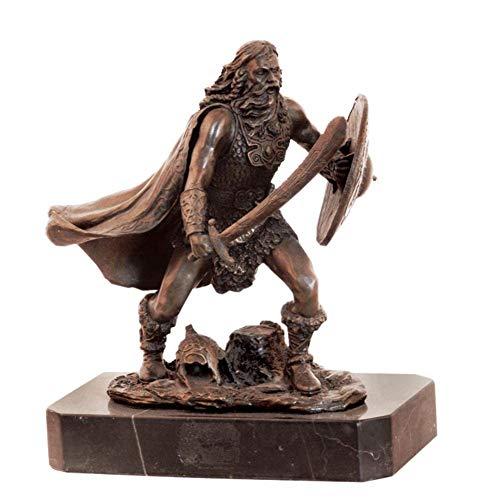 FACAIA Indywidualność średniowieczny statuetka samuraja, arres żołnierz samuraj rzeźba vintage brązowa rzeźba ogród