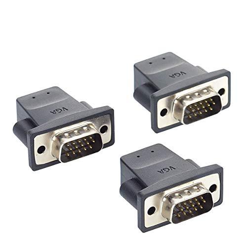XEYOU VGA Virtual Display RGB Monitor Dummy Plug Headless Ghost, Display Emulator (Fit Headless-1920x1080@60hz)-3Pack
