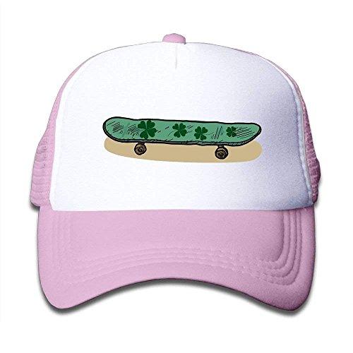NDJHEH Hüte,Kappen Mützen Boys&Girls Clover Skateboard Mesh Hat Summer Snapback Baseball Caps Adjustable Trucker Caps