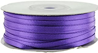 "Ben Collection 1/8"" X 100 Yard Double Faced Satin Ribbon Art & Sewing Party Favor (Purple Haze)"