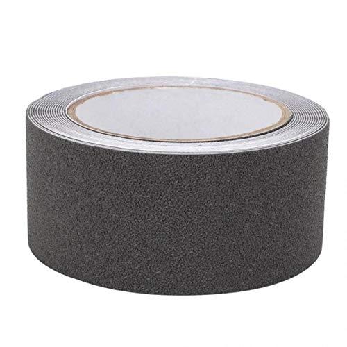 LWX - Cinta antideslizante (5 m de largo, 5 cm de ancho, color negro, blanco, gris, transparente