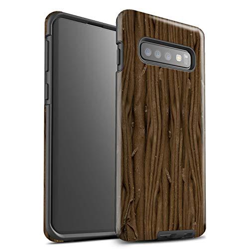 Stuff4® glanzende harde schokbestendige hoes/case voor Samsung Galaxy S10 / vlokken patroon/chocolade collectie