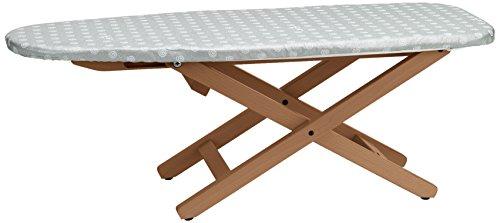 Arredamenti Italia strijkplank MINistYRO, hout - inklapbaar - in hoogte verstelbaar - draagbaar - kleur: kersenhout