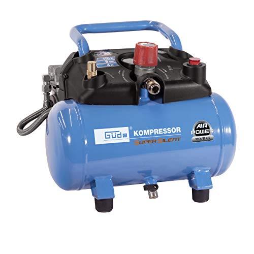 Güde Compresor silencioso Airpower 110/8/6, 550 W, 230 V, color azul