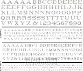 Railroad Roman Letters, White