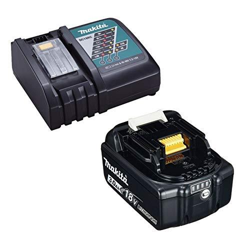 Makita 18V 3.0Ah LXT Lithium Battery BL1830 + DC18RC Fast Charger, Black