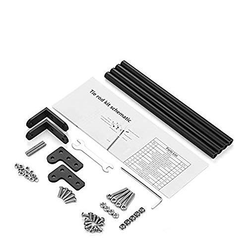 Creality - Accessorio per stampante 3D, kit per tirante con profilo in alluminio, staffa di supporto per Creality 3D CR-10 / CR-10S / CR-10S4 Nero