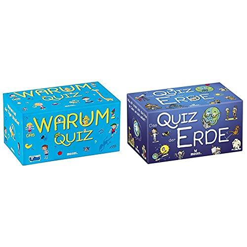 moses. Das Warum-Quiz | Kinderquiz | Für Kinder ab 6 Jahren & moses. 90325 Das Quiz der Erde | Kinderquiz | Für Kinder ab 8 Jahren, bunt