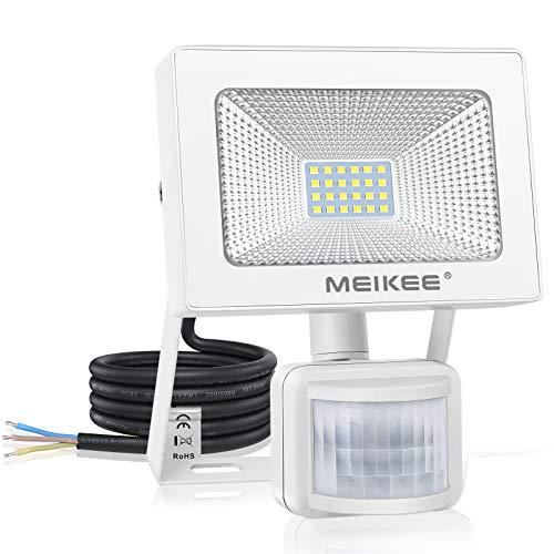 MEIKEE 20W Foco con Sensor de Movimiento 2000LM Super Potente Proyector LED para Exteriores Iluminación de Seguridad Impermeable IP66, Blanco Frio 6500K Iluminacion para Jardin Patio Garaje