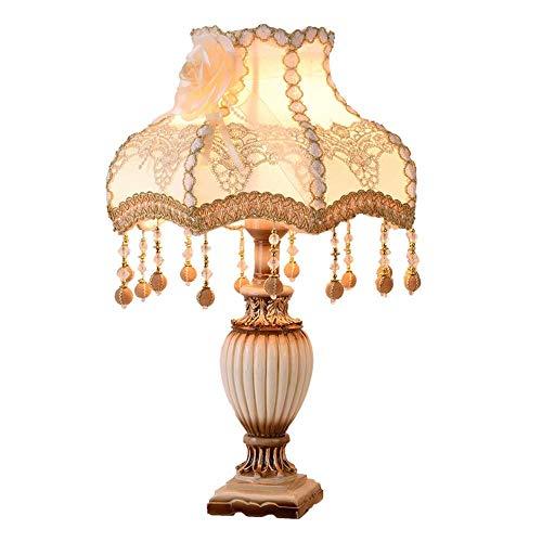 LGR Lámpara de Mesa Lámpara de Mesa de Estilo Europeo Lámpara de Noche para Dormitorio Hogar Creativo Habitación cálida Princesa Regalo de Boda 30 48cm