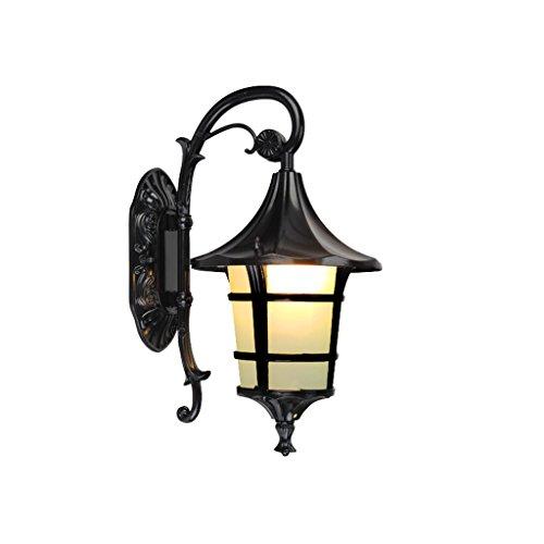 YYF Lámpara de Pared Impermeable al Aire Libre de la Puerta Luces de jardín (Size : 21cm)