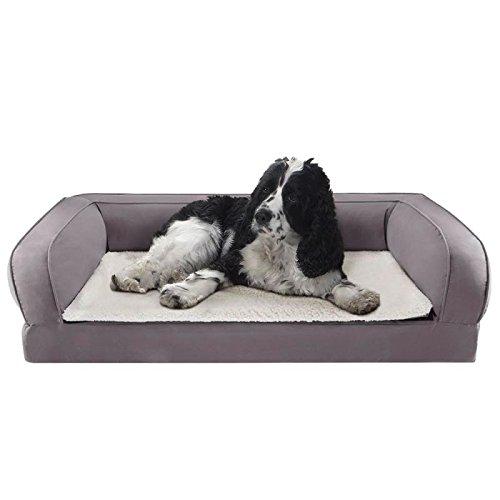 Colchón para perros ortopédico con espuma viscoelástica que proporciona alivio y descanso, ideal...