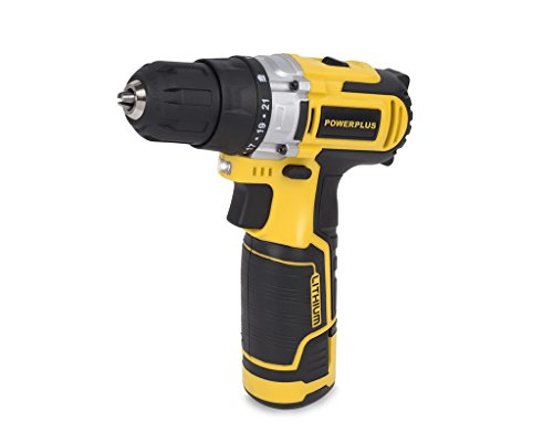 Powerplus powx0042li 12 V Lithium-Ion (Li-Ion) Black, Yellow Cordless Screwdriver – Cordless Screwdriver (12 V, Lithium-Ion (Li-Ion), 100 x 310 x 230 mm, 2.59 kg)
