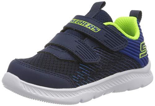 Skechers Jungen Comfy Flex 2.0 Sneaker, Blau Marineblau Textil Blau Besatz Nvbl, 22